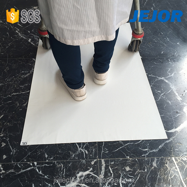 40um 60layers Yahoo White Tacky Mat In 26*45&#39&#39 supplier