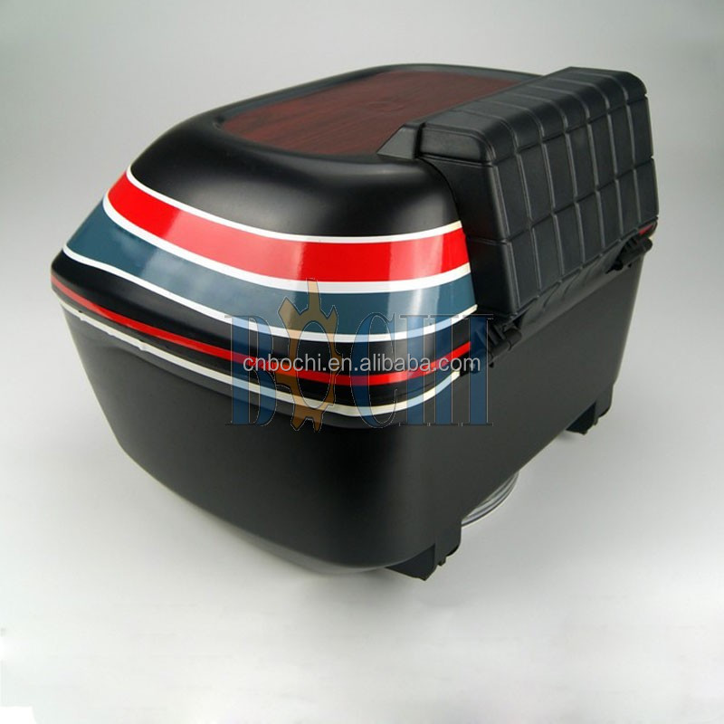 Classical black rear luggage box Motorcycle tail box