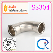 Stainless Steel Sanitary Pipe Fitting 90 Degree Elbow ,Tee