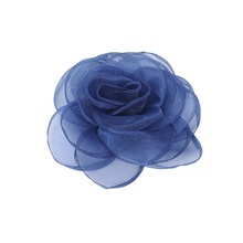 fashion 11 cm diameter chiffon navy artificial flowers for women clothes decoration