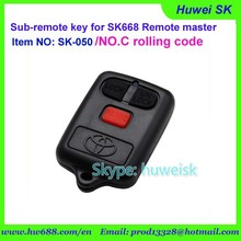 SK050 Toyota style universal Rolling code toyota car remote key NO.C copy remote key for remote master SK-668 with 315Mhz