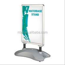 Water base aluminum pavement sign water base poster board stand