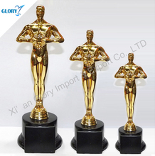 Top quality metal gold schelpture status trophy for souvenir