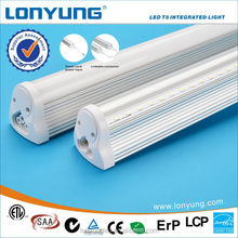 Aluminum Shell and PC Cover t8 Led Integrated Tube Light 1200mm