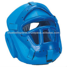 Full Face Safety Genuine Leather Boxing Protective Head Gear
