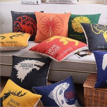 Hot sell digital animal cushion cover linen travel pillow massage pillow