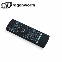 2017 Factory price MX3-L 2.4g Air Mouse Backlit BT keyboard for smart tv China Somatosensory remote control
