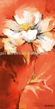 flower painting on canvas(Anemonen)