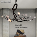 MEEROSEE Unique Design Bloom Flower Shape LED Hanging Light Home Decoration Lighting Modern Creative Pendant Lamp MD85425