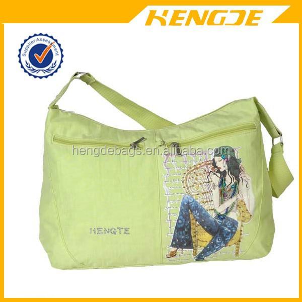 2015 china wholesale girl canvas school shoulder bag messenger bag