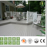 2015 new tech wpc wood plastic reclaimed flooring wpc decking interlocking composite tiles terrace board