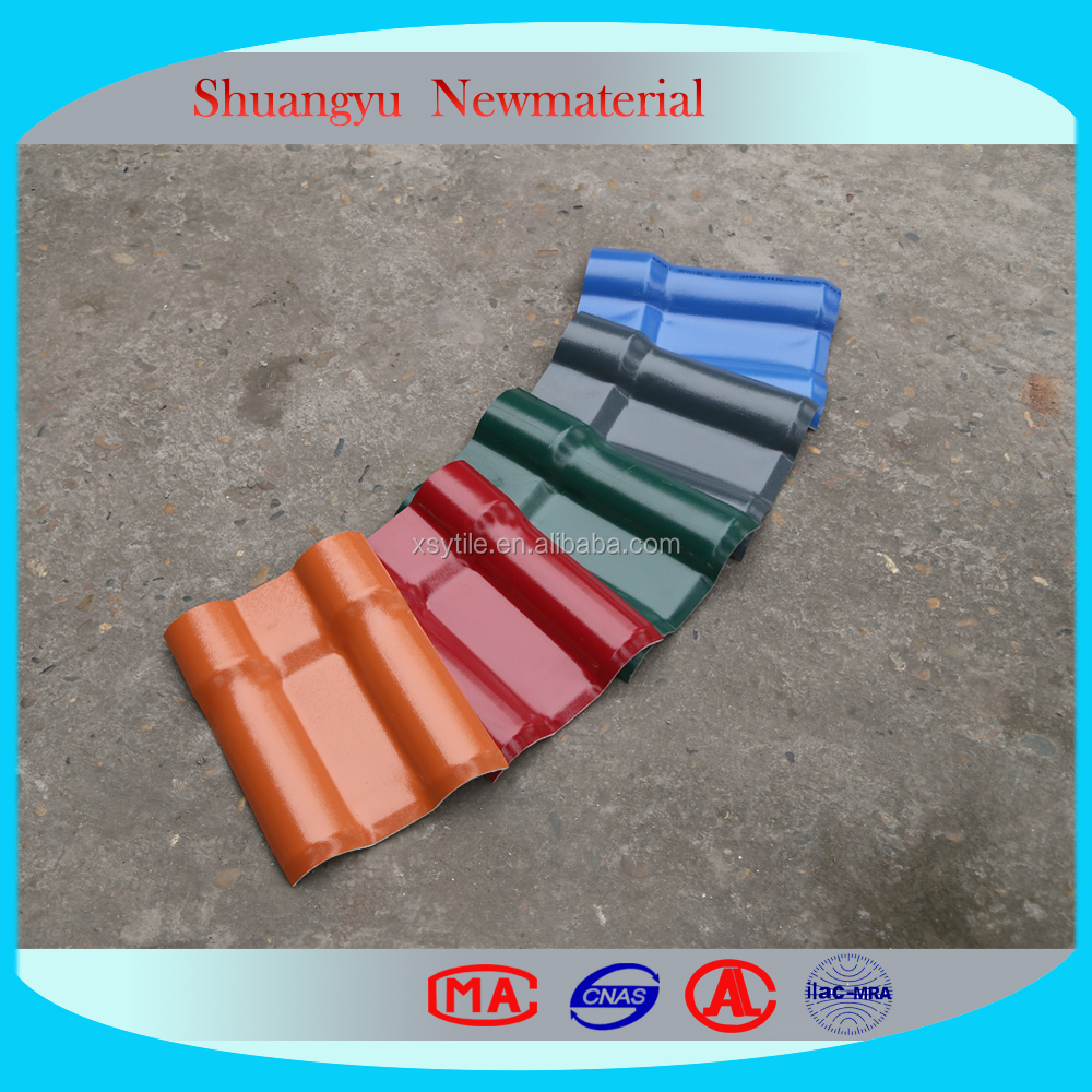 PVC plastic resin roof tile/Plastic Tile Roofing/Spanish Style Roof Tiles