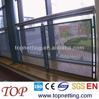 galvanized steel/ stainless steel/ pvc caoted steel perforated metal stair railing