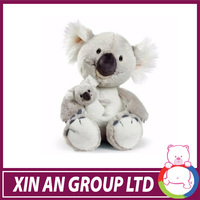 ICTI and SEDEX audit peluche wholesale OEM design mother and baby plush koala