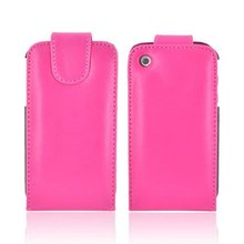 hot pink real leather case for Apple iphone