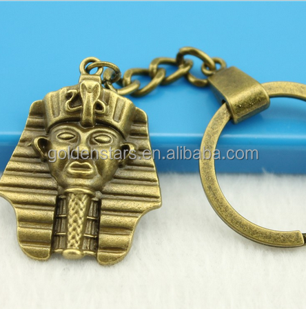 Egyptian Men key holder Custom Ancient Civilizations Metal Ring Key chains Souvenir