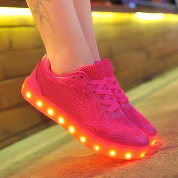 hot sellingtaobao light casual shoes 2016 led shoes kids