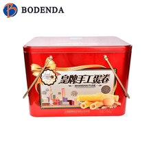 Natural meterial wooden tea tin box/christmas cake boxes/tin box