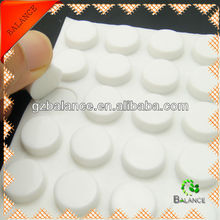 Die cutting rubber bumper with adhesive