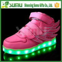 2016 Most Popular USB 7 Light Color fashion pink angel wings led shoes.html