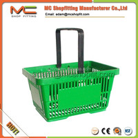single handle plastic shopping basket, handle basket, 28L