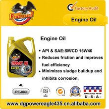 Manufacture 15W40 Sythetic Motor Oil