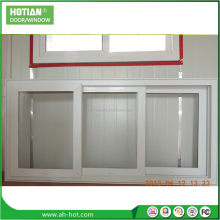 Casement type white pvc sliding tinted glass window hinge tilting window
