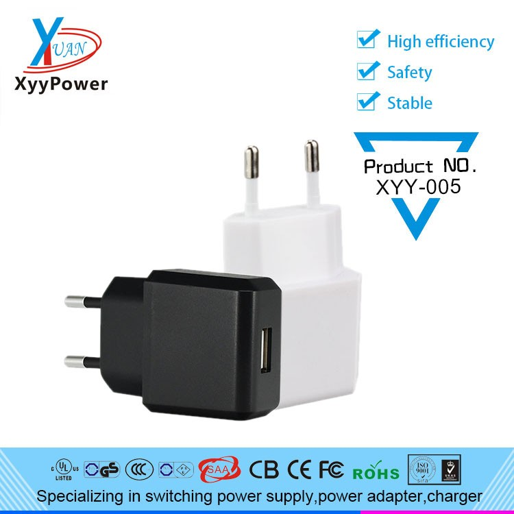 5V 600mA USB Port Travel Wall Home Car Charger Adapter EU Plug