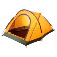 single wall waterproof camping tube tent for 2 persons