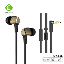 2016 mobile phone accessories high quality In-ear metal earphone and earbuds for Mobile Phone