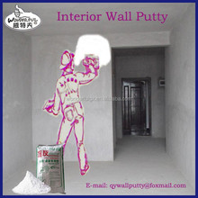 wall putty for smooth finishing over interior cement rendered and concrete surfaces