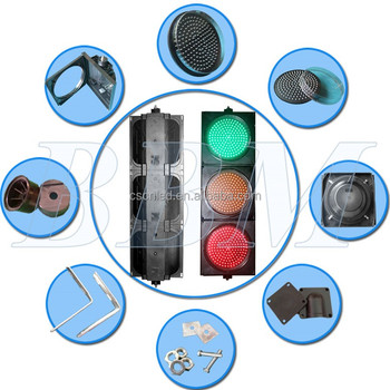 300mm three ball road crossing led traffic light
