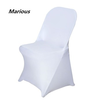White spandex cheap chair cover folding for weddings suppliers nantong cover