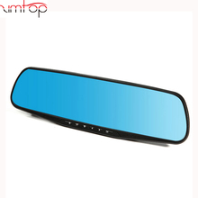 NEW double camera hd dvr 4.3 inch HD dual lens car dvr rear view camera car rearview mirror