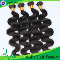Factory wholesale price full cuticle remy loose wave hair weft