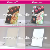 White colour acrylic frame tabletop laser LED lighted table decoration light box