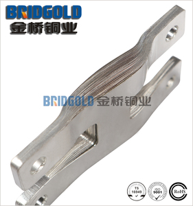 iso9001 flexible laminated copper bus bar, copper foil connector