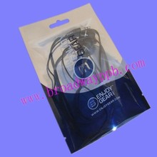 clear front silver back three side seal clear foil pouch