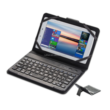 3-in-1 wireless mini keyboard Leather tablet PC case for ipad mini 7inch tablet PC