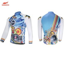 Breathable UV Protection Mens Fashion Winter Cycling Team Jersey