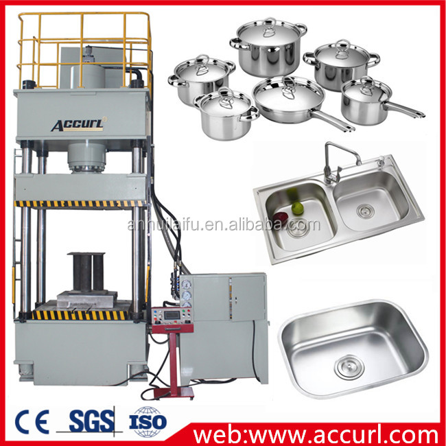 AccurL hydraulic metal hole punch 10T Hydraulic C Frame deep drawing Presses stainless steel pot production line press