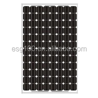 250W monocrystalline silicon solar panel for home solar system