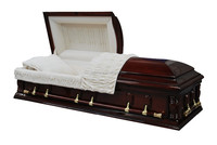 Beautiful Twist lin white interior US style casket