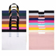 Wholesale blank custom printing loop handle drawstring colorful plastic tote bag for shopping