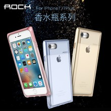 For iPhone 7 ROCK Perfume Case, ROCK Crystal Series Carbon LED Calling TPU PC Case For Iphone 7/7 Plus HD-826