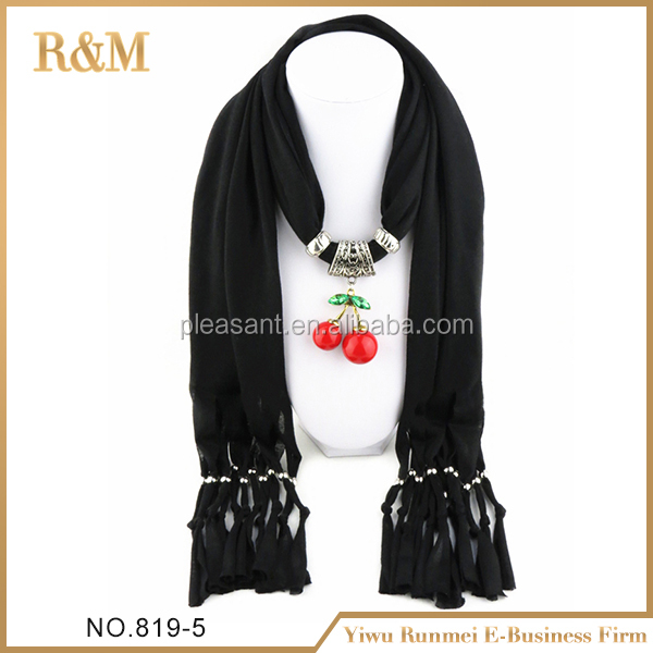 best-selling fashion pendant scarf with chain jewelry necklace