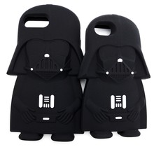 Hot 3D Wars Vader Cartoon Silicone Phone Cases Cover For iPhone 7 7Plus 4 4S 5 5G 5S 6 6G 6S 6Plus Back Cover