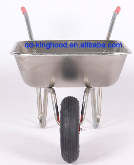 Garden Wheelbarrow WB4024A 62.5L Galvanized