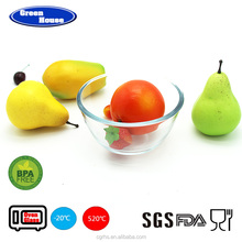 Keeping Fresh Durable Round Shape High Borosilicate Glass Salad Bowl with PP lid
