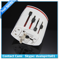 Hot Model factory direct sale dual usb wordwide plug